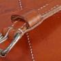 Laptoptasche breit Schnallendetail 2 M-Frosch Leder