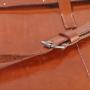 Laptoptasche breit Schnallendetail M-Frosch Leder