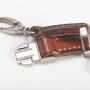 Schlüsselband Lanyard Detail M-Frosch Leder
