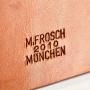 Tuchbox Stempel M-Frosch Leder
